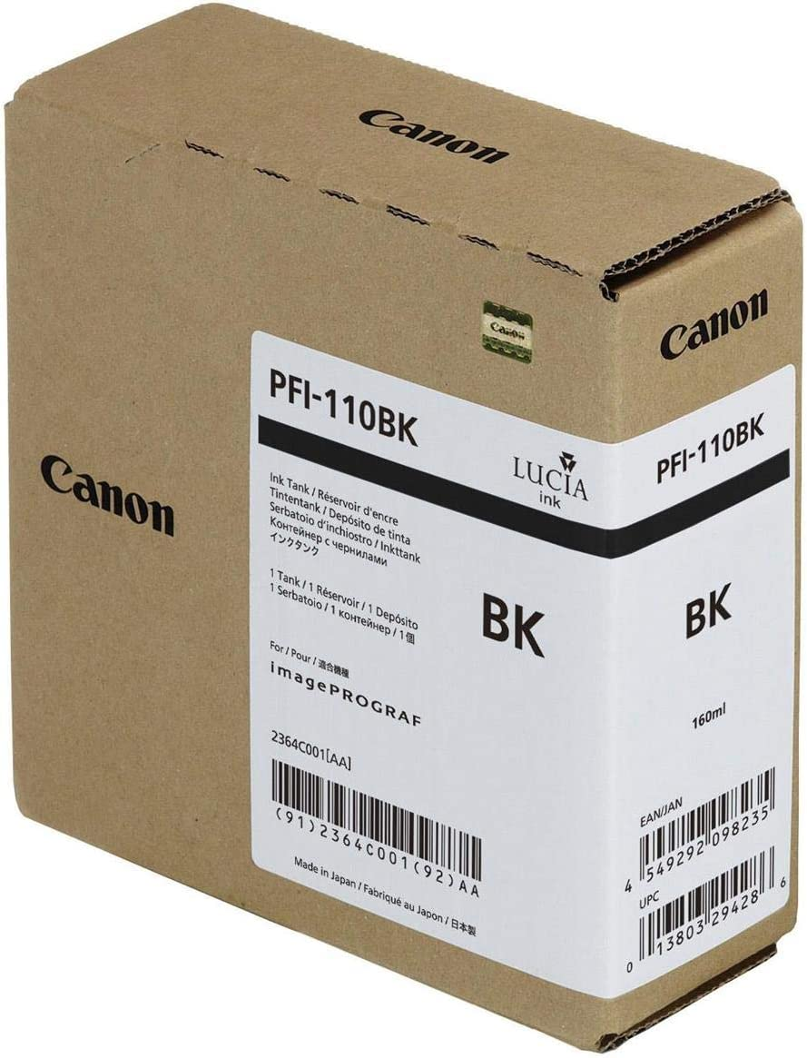 Canon PFI-110 Pigment Ink Tank in Retail Packaging Black