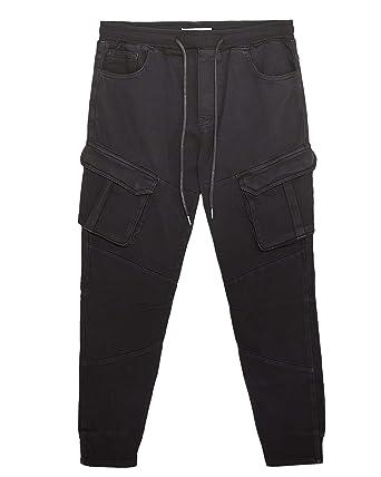f20000e3 Zara Men Soft Denim Joggers 5862/434 at Amazon Men's Clothing store: