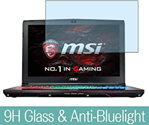 "Synvy Anti Blue Light Tempered Glass Screen Protector for MSI GE62VR 6RF Apache PRO(006JP) 15.6"" Visible Area 9H Protective Screen Film Protectors"