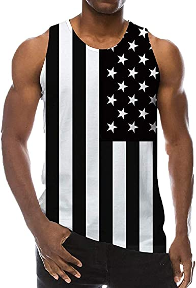 FossenHom - Camisetas de Tirantes Hombre Deportivas Impresa en 3D de Estilo Nuevo de Verano, Blusa Camiseta Deporte Baratas para Hombres, Chaleco Top Moda Confort: Amazon.es: Ropa y accesorios