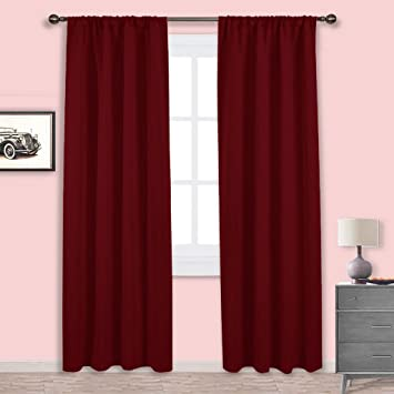 p end blackout curtains geometric high curtain chenille burgundy