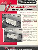 1961 Mercury Comet Vornado Air Conditioner Brochure