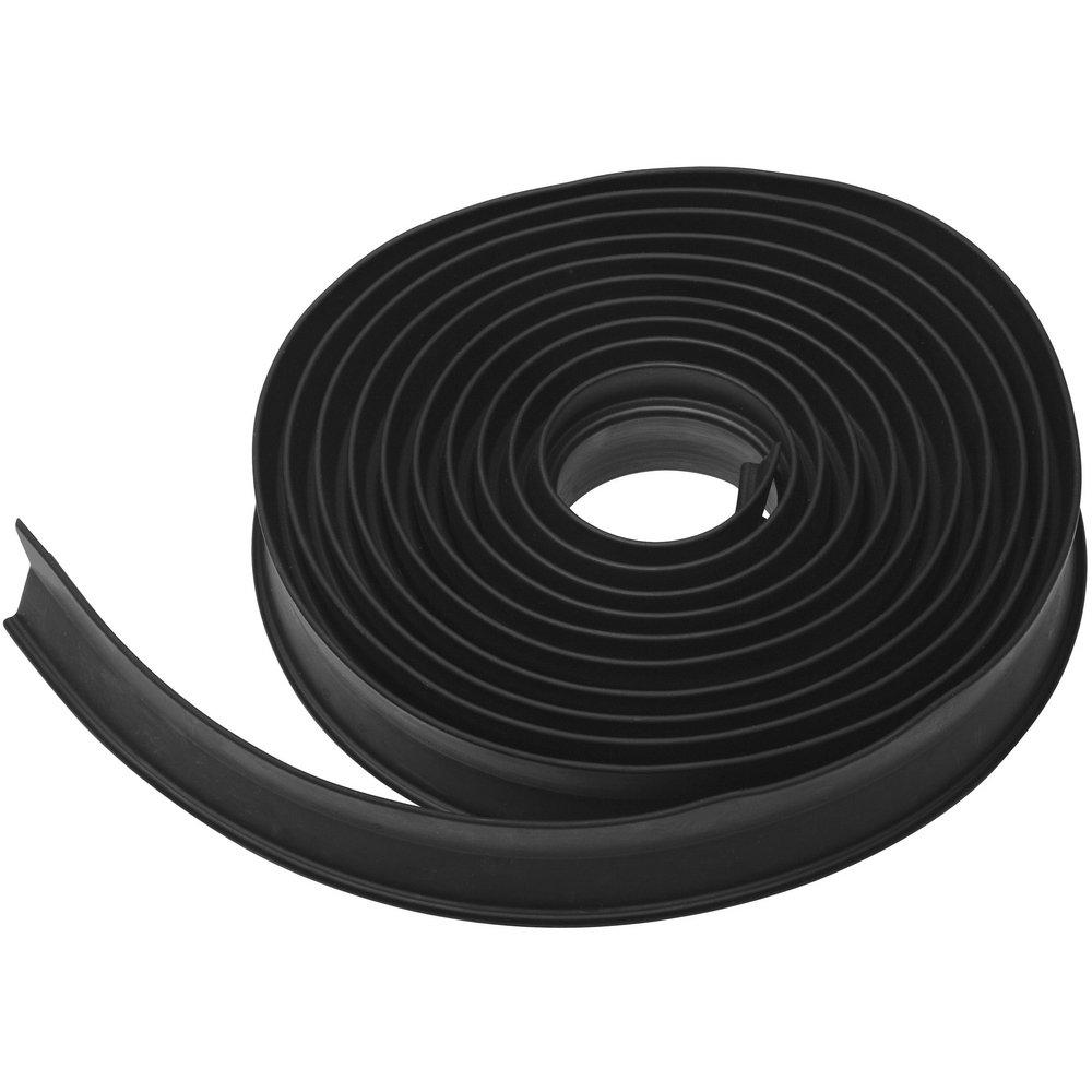 National Hardware N281-295 V7664 Garage Door Weatherstripping in Black, 16'