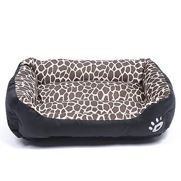 LA VIE Cama Cálida para Mascotas Sofá Cama Nido Suave y Acogedor para Gatos Perros Pet Dog Bed M en Leopardo