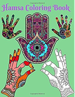 Hamsa Coloring Book Mandala Designs And Stress Relieving Patterns For Adult Relaxation Meditation