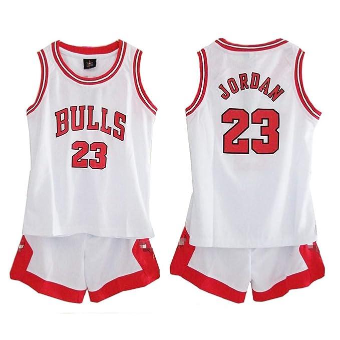 d5eb1bf6eb Daoseng Niño NBA Michael Jordan # 23 Chicago Bulls Retro Pantalones Cortos  de Baloncesto Camisetas de Verano Uniformes y Adulto Tops de Baloncesto: ...