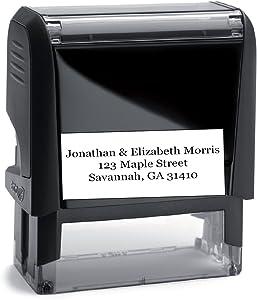 Personalized Address Stamp (Black Ink) - Large Font