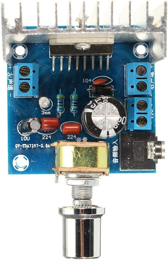 GFCGFGDRG AC/DC 12V TDA7297 2x15W Amplificador de Audio Digital DIY Kit de Doble Canal Módulo de reemplazo de moldes
