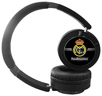 3e5f66f7b35 New Cool Real Madrid Wireless Bluetooth Headphones with Mic Over Ear,  Headsets for IPhone, IPad, Smartphone and TV, 3.5mm Plug Black: Amazon.ca:  Electronics