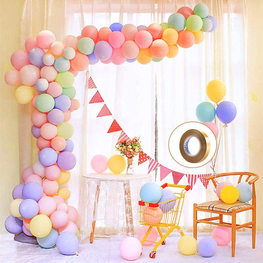 Purple Birthdays 104 Pcs Assorted Pink Showers 16-foot DIY Party Supply Decorations for All Occasions and Blue Latex Balloons Graduations Weddings Pastel Balloon Garland Arch Kit