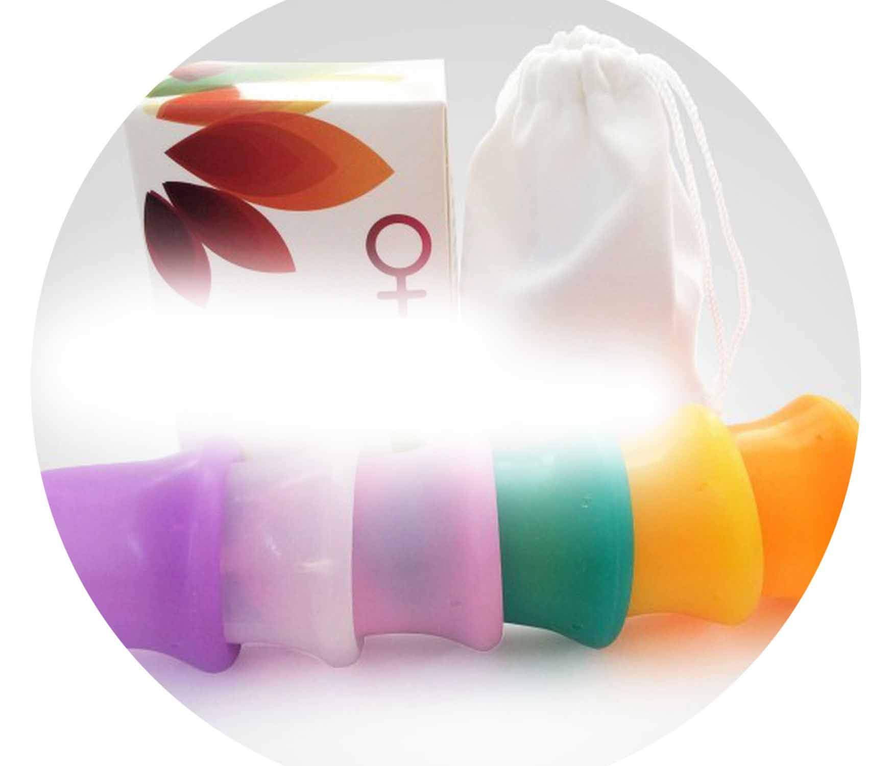 200pcs New Arriving Reusable Grade Silicone Menstrual Cup/y Cup Feminine Hygiene Product for Femcup 6 crs Choose