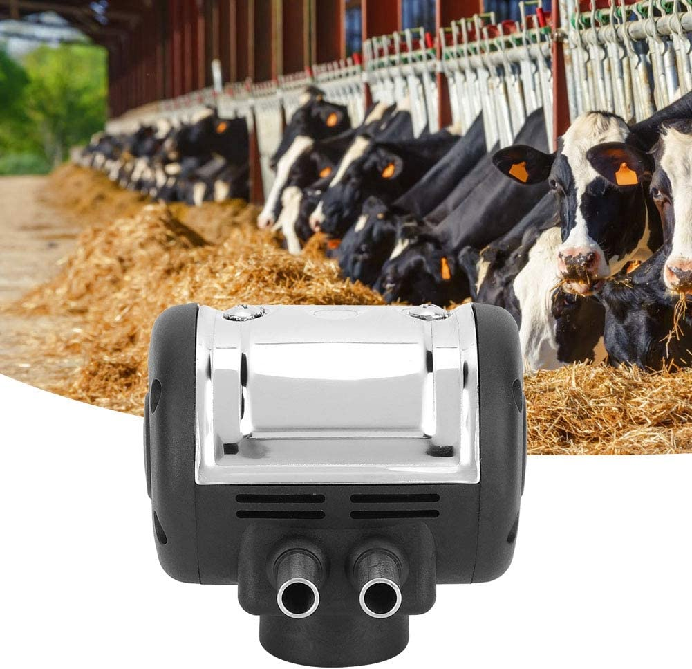 WAYMX Mungitrice elettrica//Doppia Testa Tiralatte Macchina Secchiello per Latte in Acciaio Inox 14L Adatto per bovini