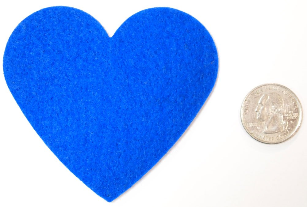 Playfully Ever After 3 Inch Blue 22pc Stiff Felt Hearts