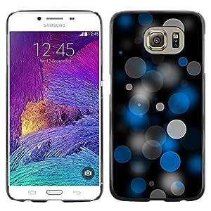 Paccase / Dura PC Caso Funda Carcasa de Protección para - Dots Spots Art Pattern Wallpaper Blue Grey Black - Samsung Galaxy S6 SM-G920