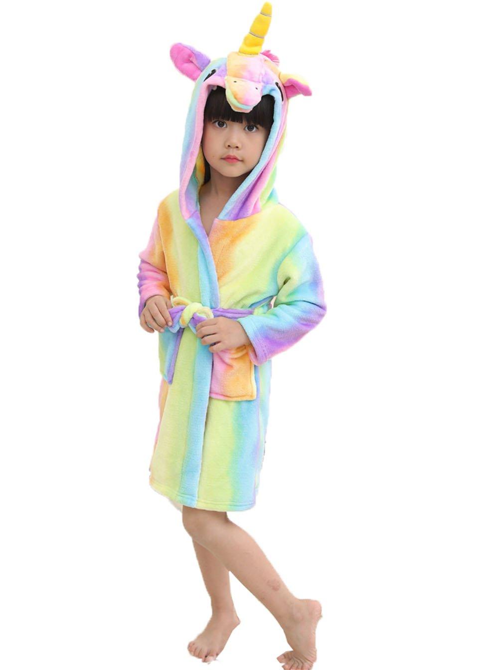 Z-Chen Unicorno Accappatoio Con Cappuccio Bambina e Bambino EU0070-0075