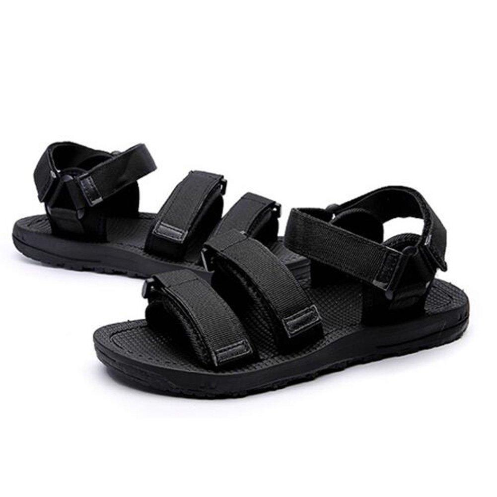 Sunny Sandalias Plástico Temporada De Verano Antideslizante Negro Azul Zapatos De Playa EU39/UK6|Black
