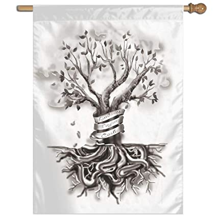 Amazoncom Garden Flag Family Tree Tattoo Lawn Banner Outdoor Yard