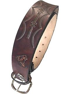 Handmade Mens Leather Belt Brown Western Work Casual Belt 1.25 Wide