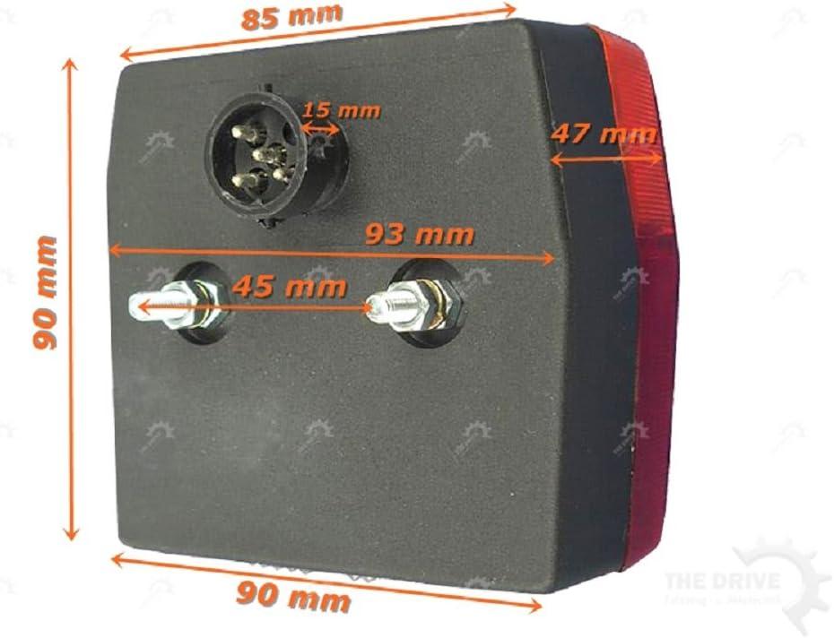 Minipoint R/ückleuchten Satz mit KZL 5m 7-pol Anschlu/ßkabel 13472 The Drive