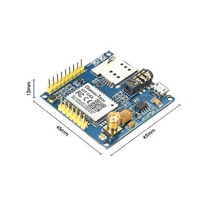Amazon com : KKmoon GPRS A6 Pro Serial GPRS GSM Module Core