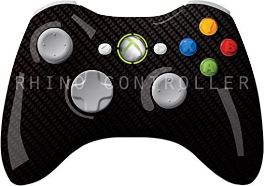 XBOX 360 controller Wireless Glossy WTP-454-Silver-Bias-Carbon ...