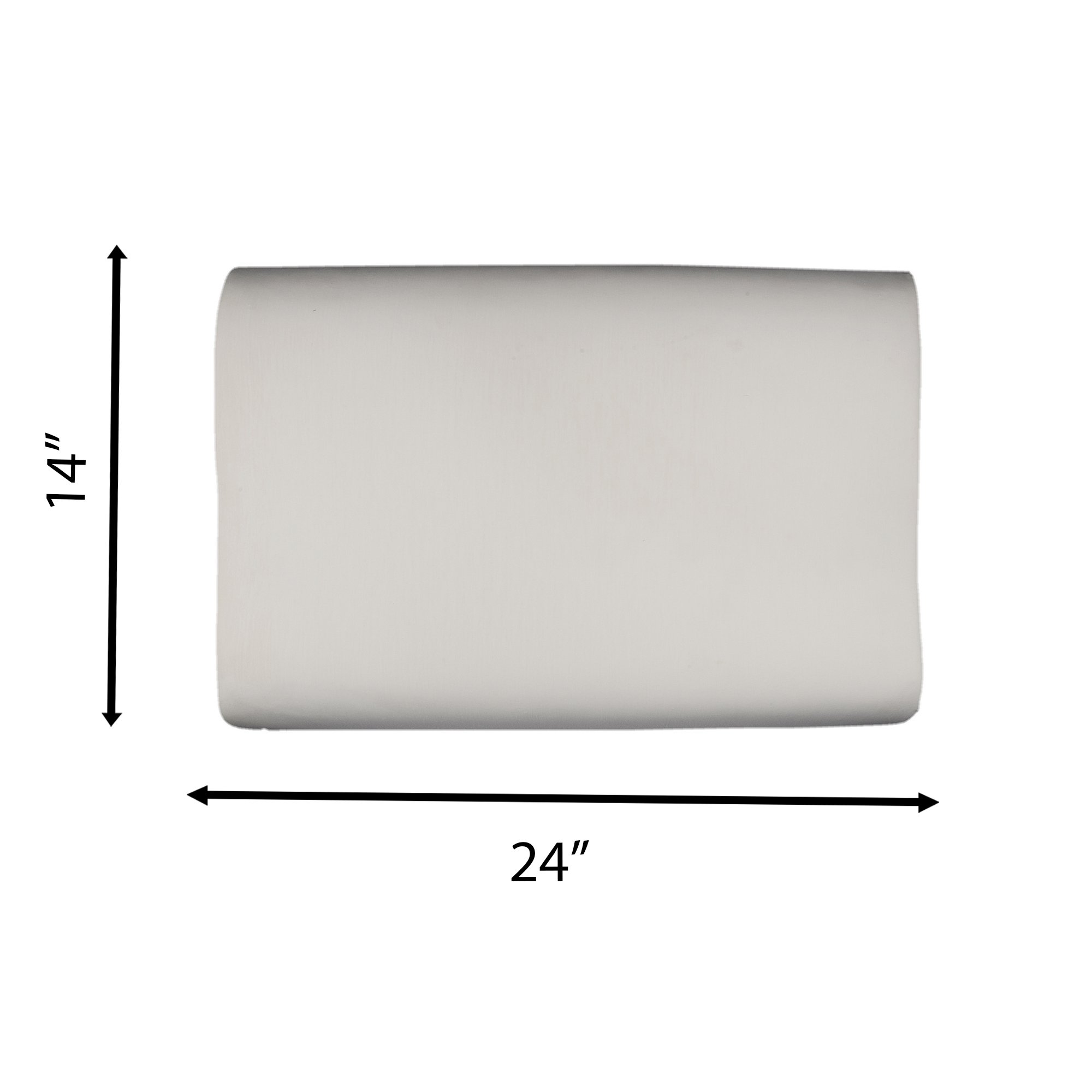 The White Willow Contour Visco Memory Foam Cushion For Neck Pain Relief Light Weight Cervical Support Orthopedic Bed Pillow For Sleeping Side or Back 20'' x 12'' x 4'' White (3), Free Express Shipping by The White Willow (Image #4)
