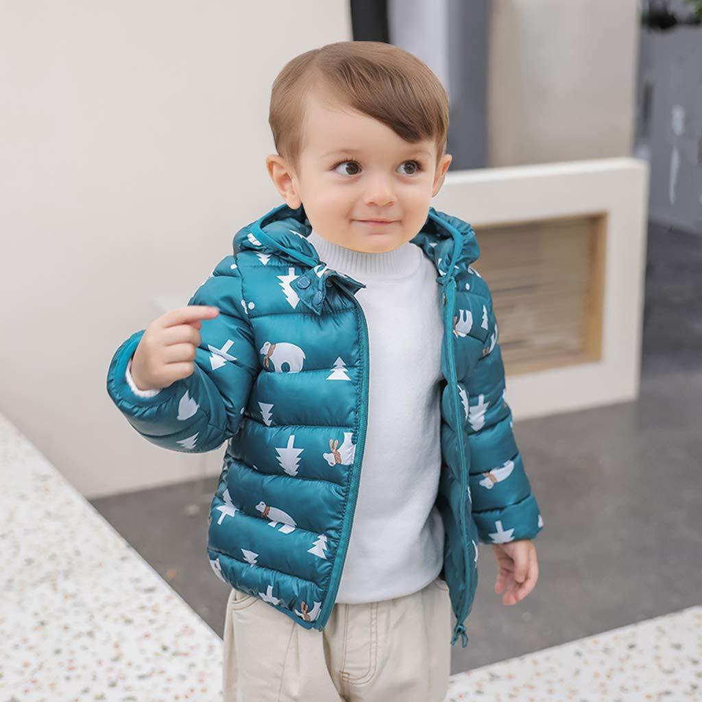 Chaqueta con Capucha Unisexo Abrigo de Ligero Impermeable Ropa para Beb/é 2-3 A/ños Ni/ños Traje de Invierno