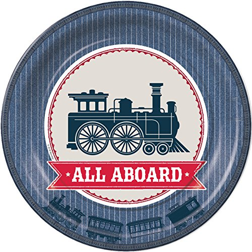 Rustic Railroad Train Dinner Plates Party Tableware Supplies Decorations