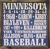 Minnesota Twins Vintage Style Wooden Sign-18x18