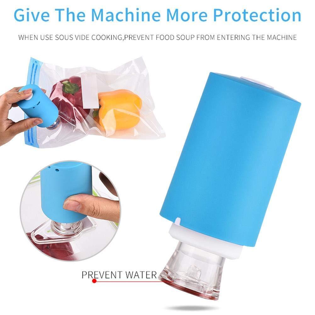 XZANTE Bolsas Kit con USB Vac/ío Bomba El/éctrica Bolsas De Almacenamiento De Alimentos Reutilizables Al Vac/ío 5 Piezas