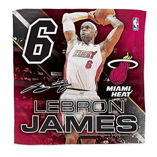 Miami Heat Official NBA 16 inch x 16 inch Lebron James Towel by Wincraft