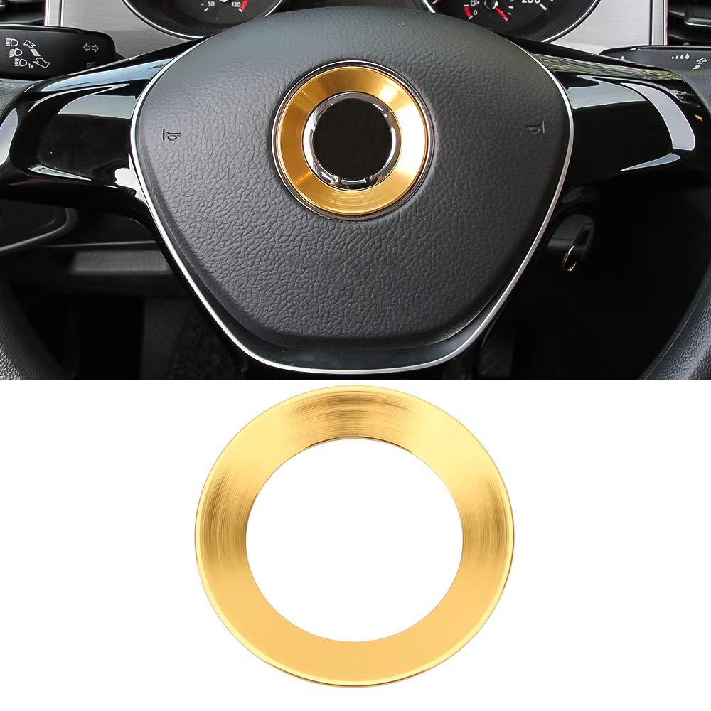 Amazon com senzeal aluminum alloy car steering wheel logo trim decoration ring sticker fit for 2015 2016 2017 2018 vw golf 7 e golf golf gti sportwagen