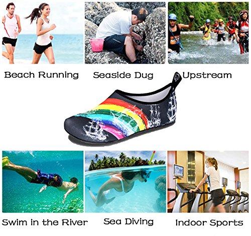 Femmes En Mens Surf Water Yoga Exercice Chaussures Plage Air Nus Course Pied Apne Plonge De Arc Iceunicorn Shoes Ciel Bottes La Pieds Pour Bain Plein wpRnE7x8f