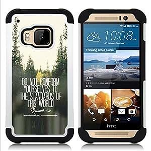For HTC ONE M9 - do not conform inspiring free quote Dual Layer caso de Shell HUELGA Impacto pata de cabra con im????genes gr????ficas Steam - Funny Shop -