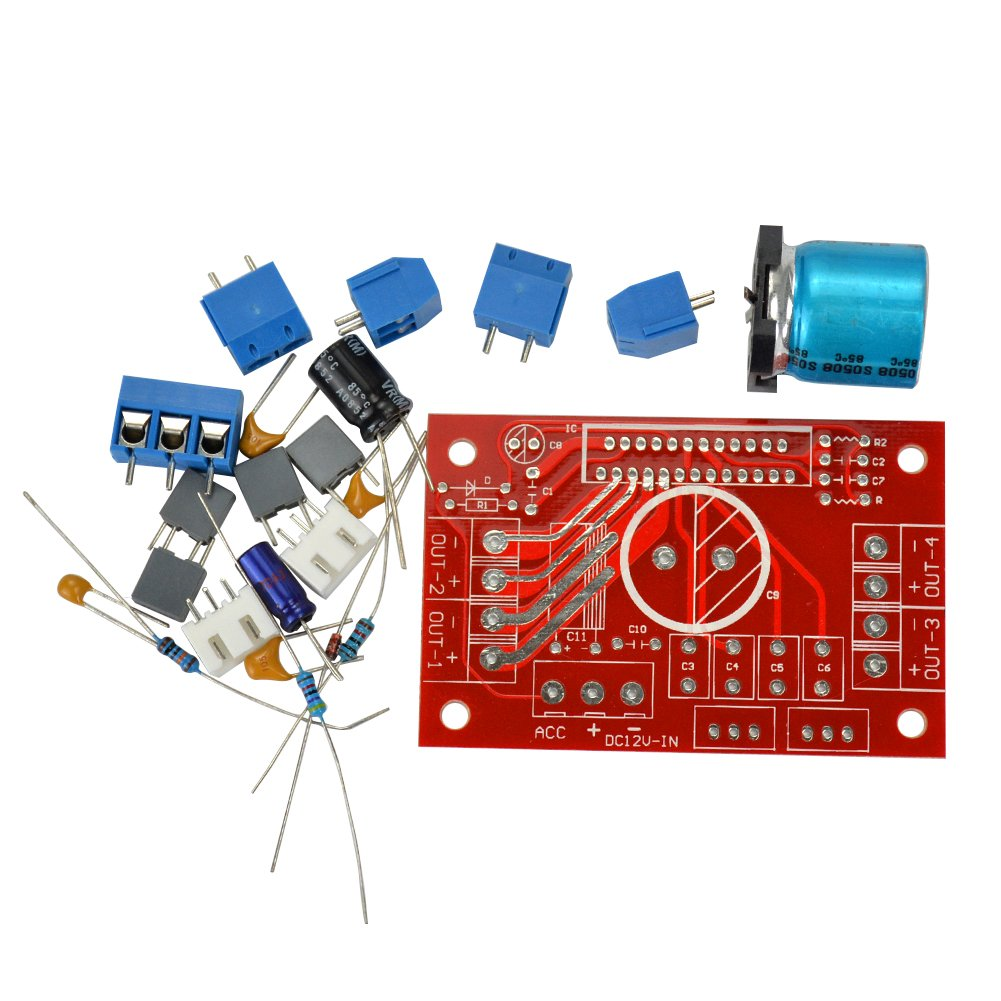 Aoshike Amplifier Board Diy Kits For The Tda7850 Tda7388 Tda7851 C11 Pc Wiring Diagram Tda7854 Series Chip Hi Fi Speakers