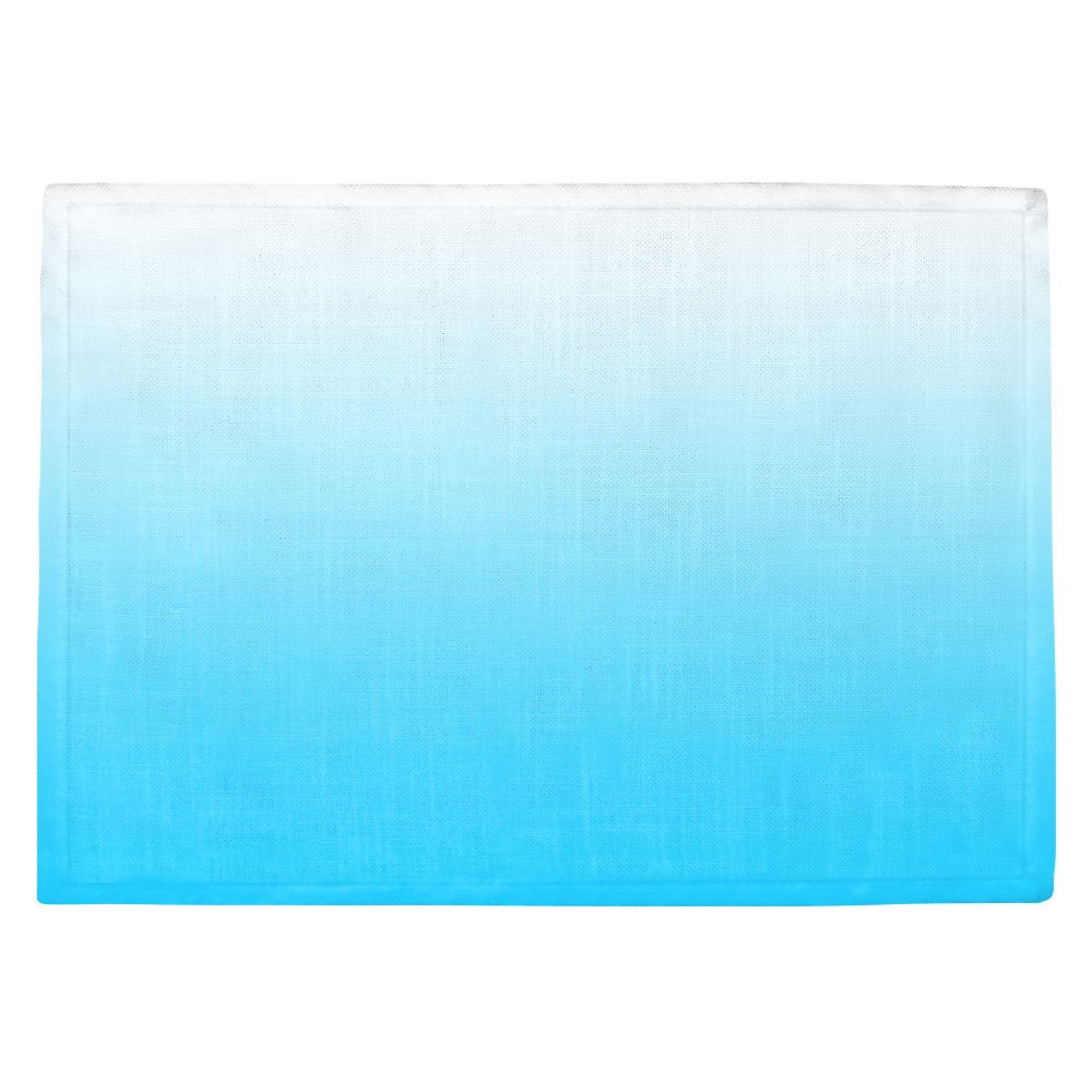 DIANOCHEキッチンPlaceマットby ArtistスージーKUNZELMAN – Ombre Sea Aqua Set of 2 Placemats PM-SusieKunzelmanOmbreSeaAqua1 Set of 2 Placemats  B01N8P35XU