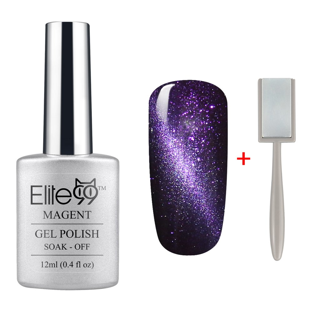 Amazon.com : Elite99 Magnetic 3D Cat Eye Gel Polish Soak Off UV LED ...