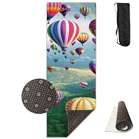 Amazon.com : Air Balloons Comfort Unisex Yoga Mat For Yoga ...