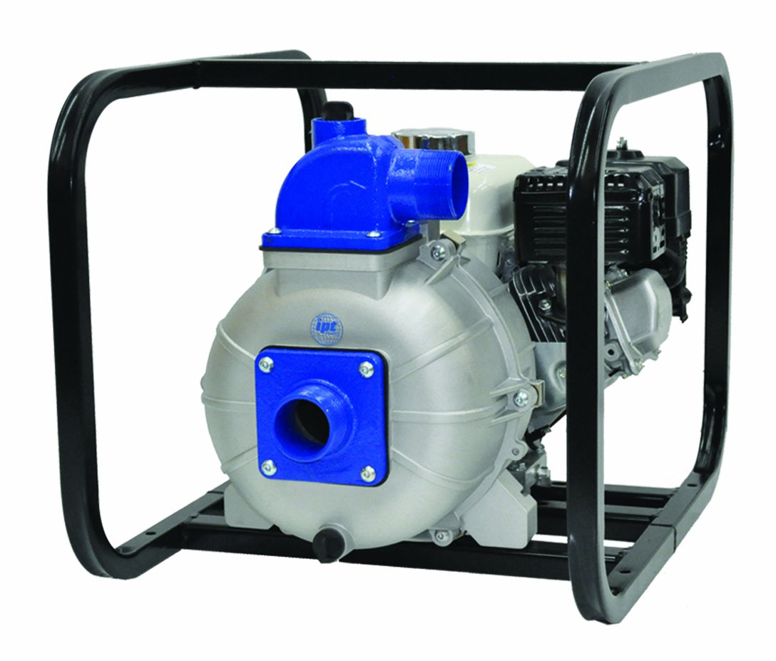 AMT Pump 3S5XHR Engine Driven Self-Priming Trash Pump with Honda GX160 Engine, Aluminum, 5 HP, Curve B, 3'' NPT Male Suction & Discharge Ports