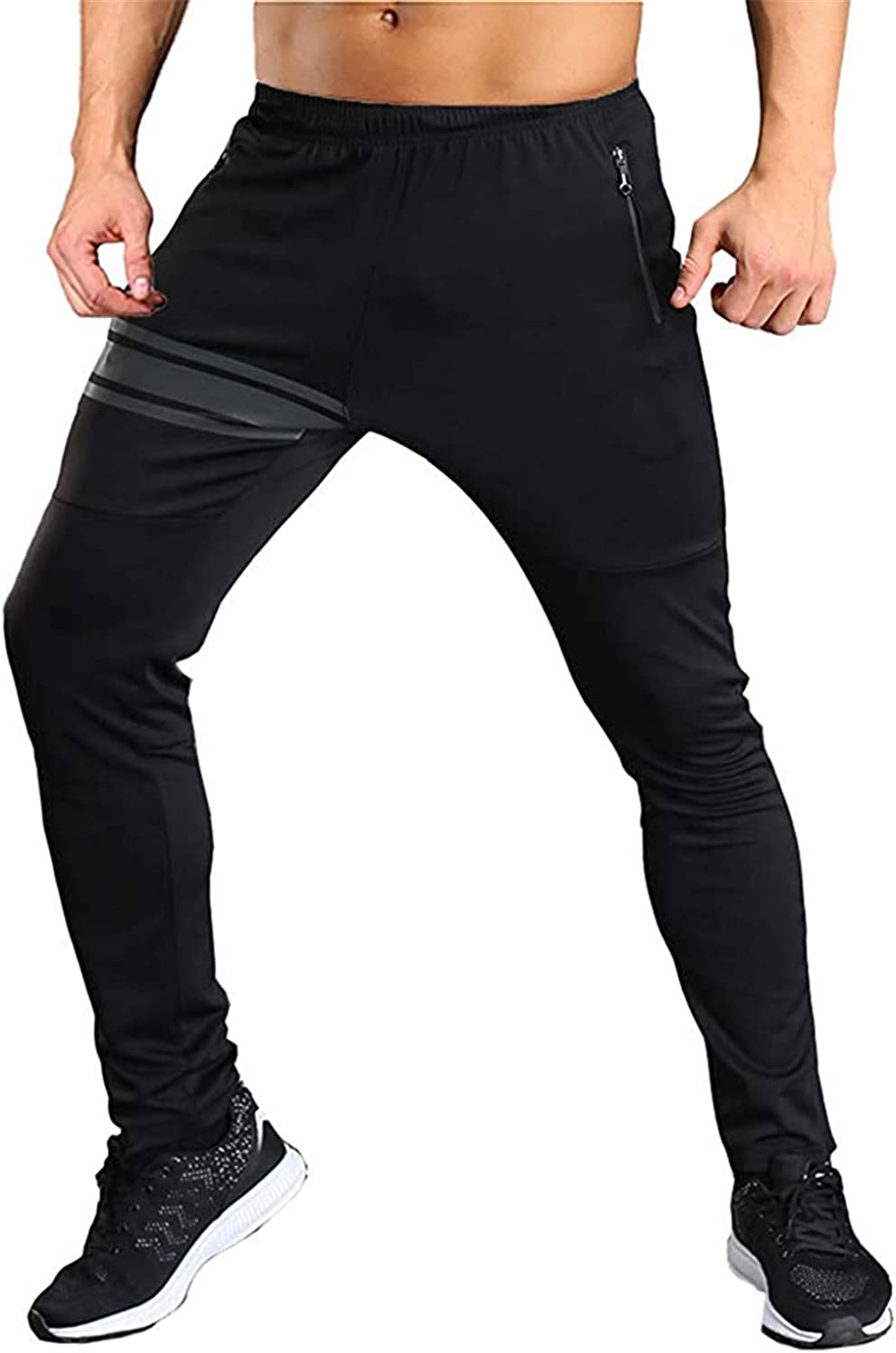 Meimeioo Mens Gym Jogger Pants Training Workout Slim fit Sweatpants Causal
