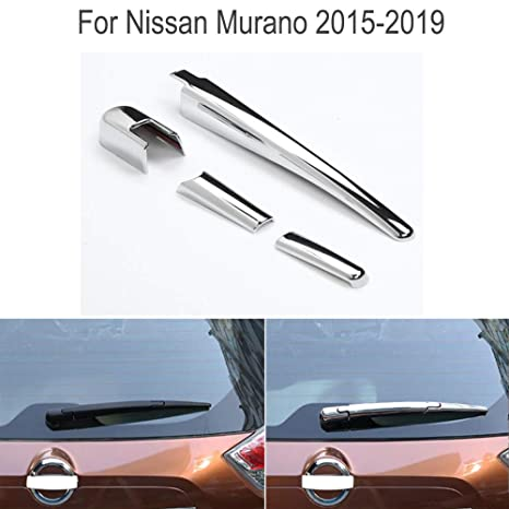 Amazon com: Yingchi Car Silver ABS Chrome Rear Window rain
