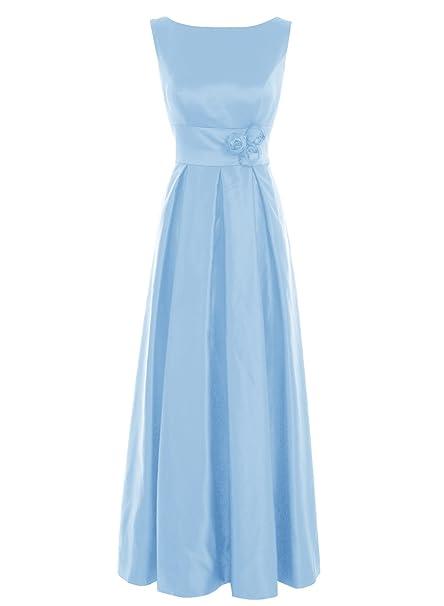Bbonlinedress Vestido De Madrina Elegante Largo Sin Mangas Vestido De Ceremonia Azul 54W