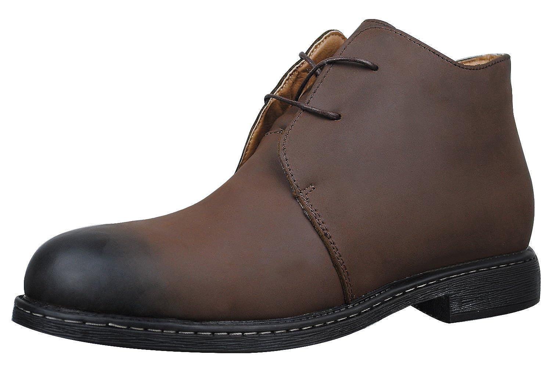 4How Men's Chukka Boot Black Tan