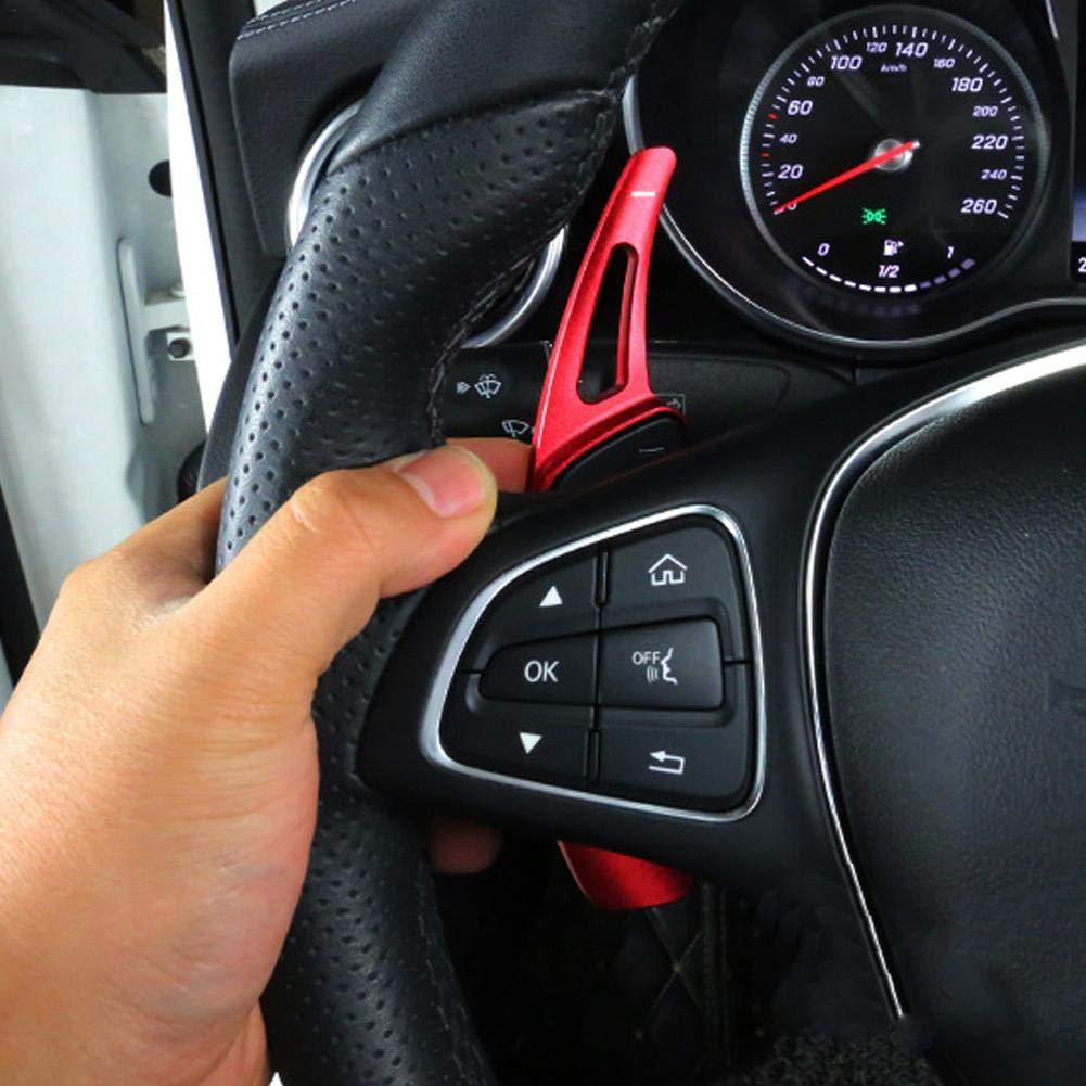 Steering Wheel Dsg Paddle Levas Shifter Extensions para Mercedes Benz Dequate 2 Pcs Extensiones De Levas Rojo//Plateado