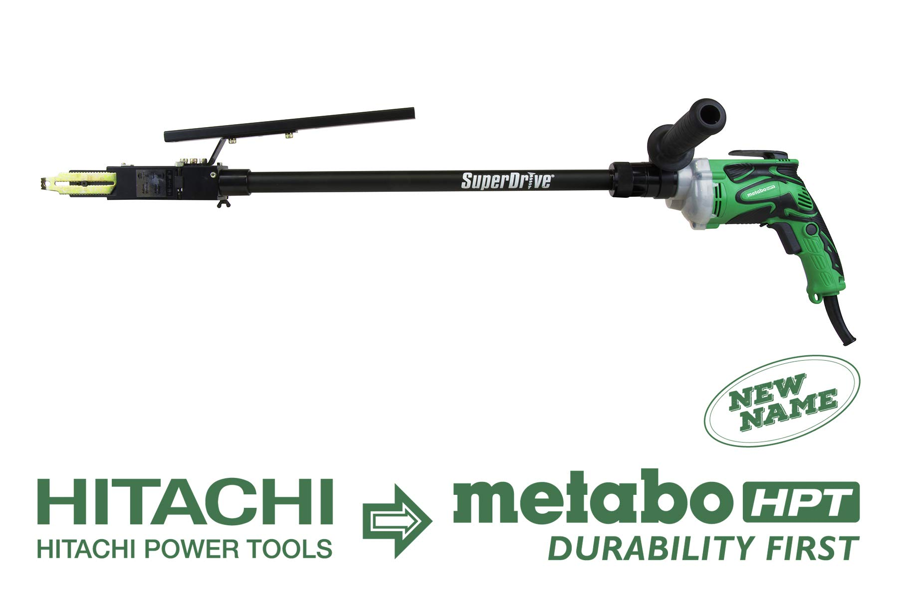 Metabo HPT W6VB3SD2 SuperDrive Screw Driving Tool, Collated Screw Fastening System with 20'' Extension by Metabo HPT
