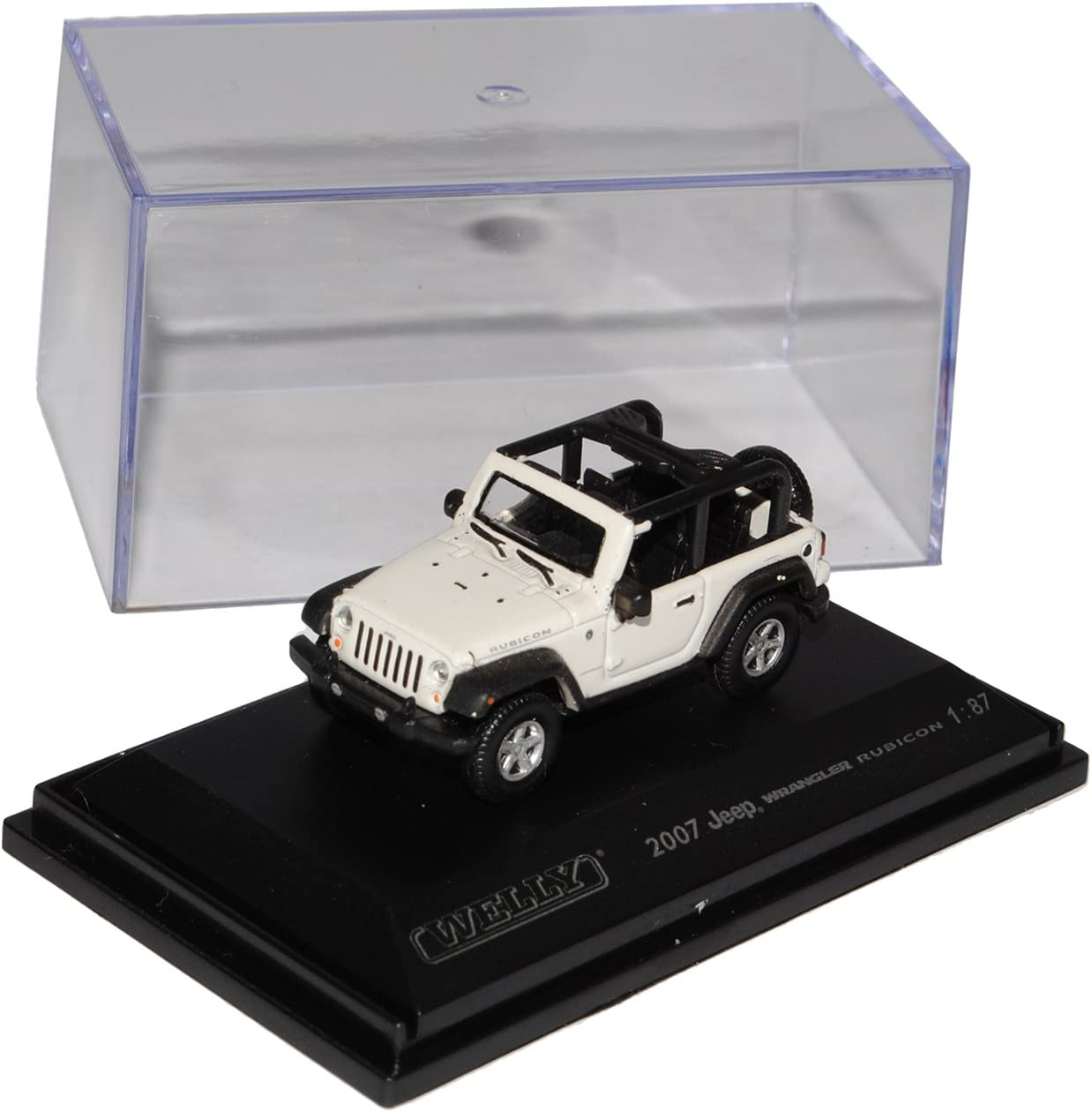 Welly Jeep Wrangler Rubicon Weiss Cabrio Jk Ab 2007 H0 1 87 Modell Auto Spielzeug