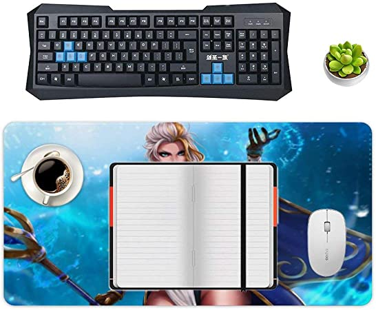 Mouse pad,for World of Warcraft Arthas-menethil,Extended Gaming Mouse pad,Smooth Mousepad,Desk Mat,Waterproof No-Slip Stitched Edges Mousepads,Perfect for Gaming,Home Office 12x24inch