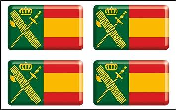 Artimagen Pegatina rectángulos Bandera con Logo Guardia Civil 4 uds. Resina 30x18 mm/ud.: Amazon.es: Coche y moto
