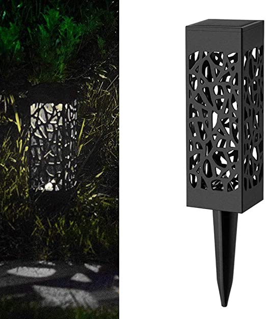 Lámpara Solar paraJardínTefamore LED Luz solar IP44 Luz Jardin Solares Exterior Luces de Decoración con Energía Solar Luces para Caminos de Jardín (Blanco): Amazon.es: Iluminación