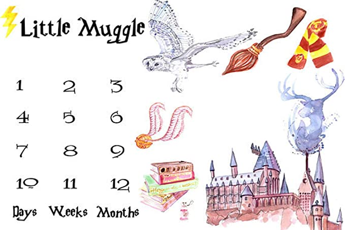 Little Muggle New Born Infant Boy Girl Milestone Photo Blanket Daily Monthly Yearly Photo Shoot Backdrop Props